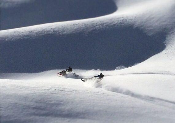 mountain sledding