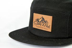 Stay Wild Black 5 panel hat