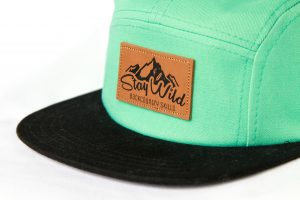 Sea green 5 panel hat